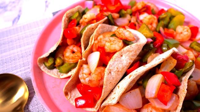 Image of Shrimp Fajitas in Air fryer