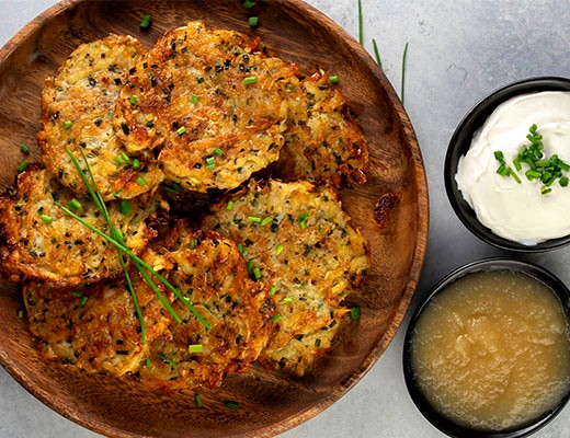 Image of Zucchini Parmesan Latkes
