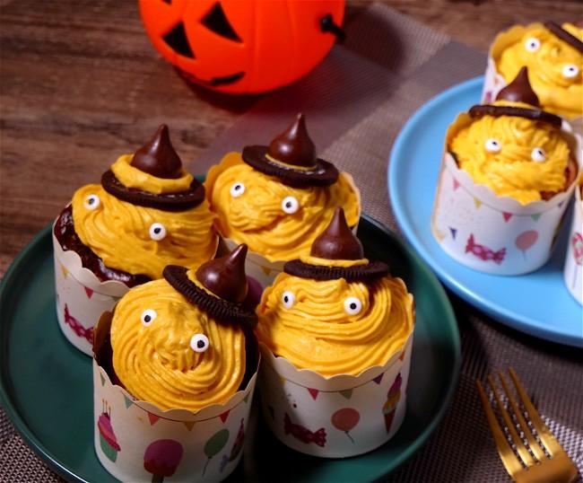 Image of HALLOWEEN PUMPKIN CUP CAKE
