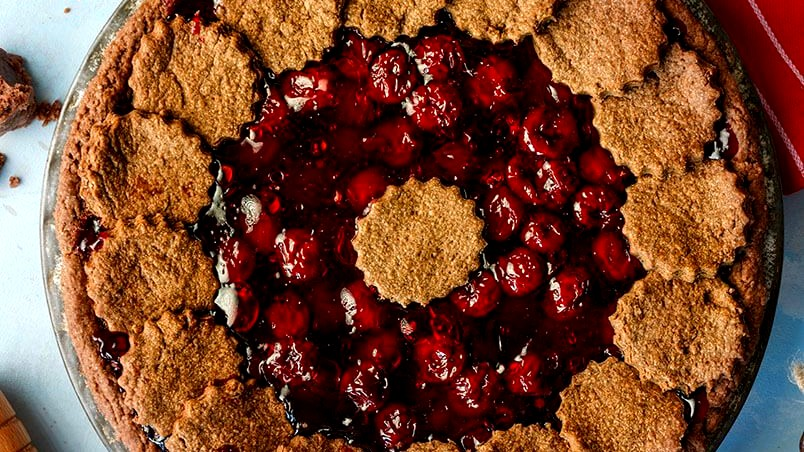 Image of Chocolate Pie with Cherry Filling
