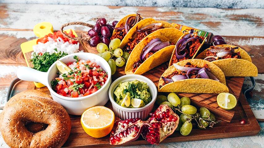 Image of Tacos with Chili Sin Carne