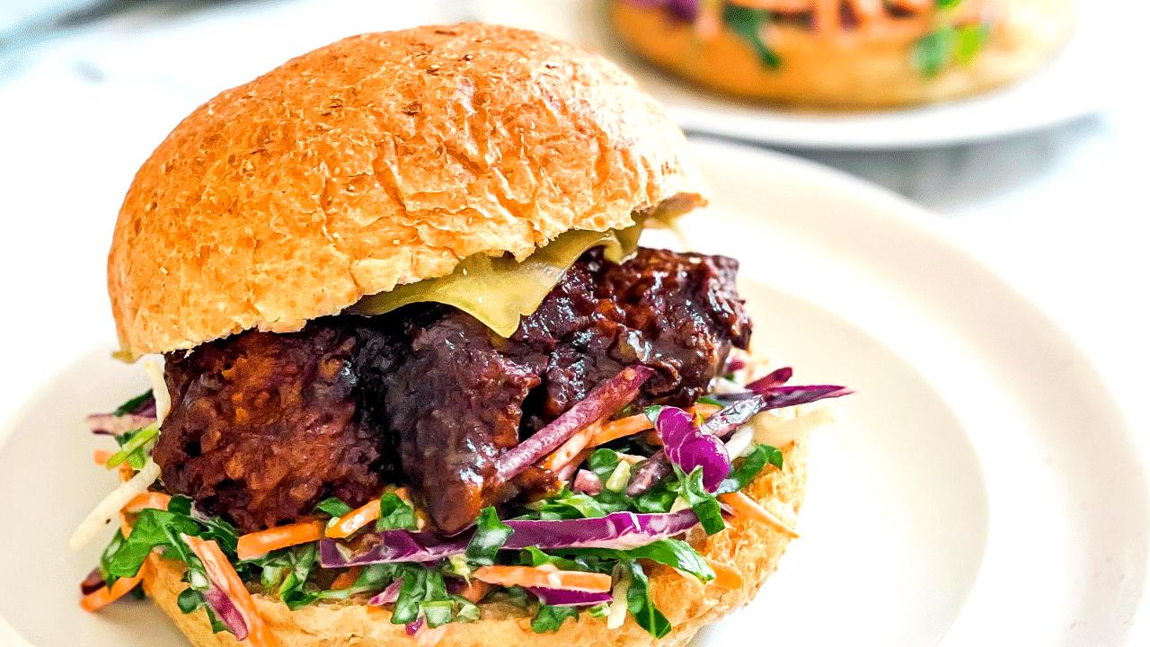 Image of Slow Cooked Beef Brisket Burger