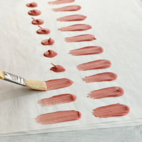 Image of Brushstroke Technique with Chocolate Confectionery