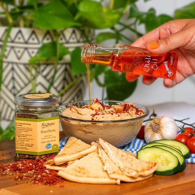 Image of Easy Bruschetta & Chili Hummus