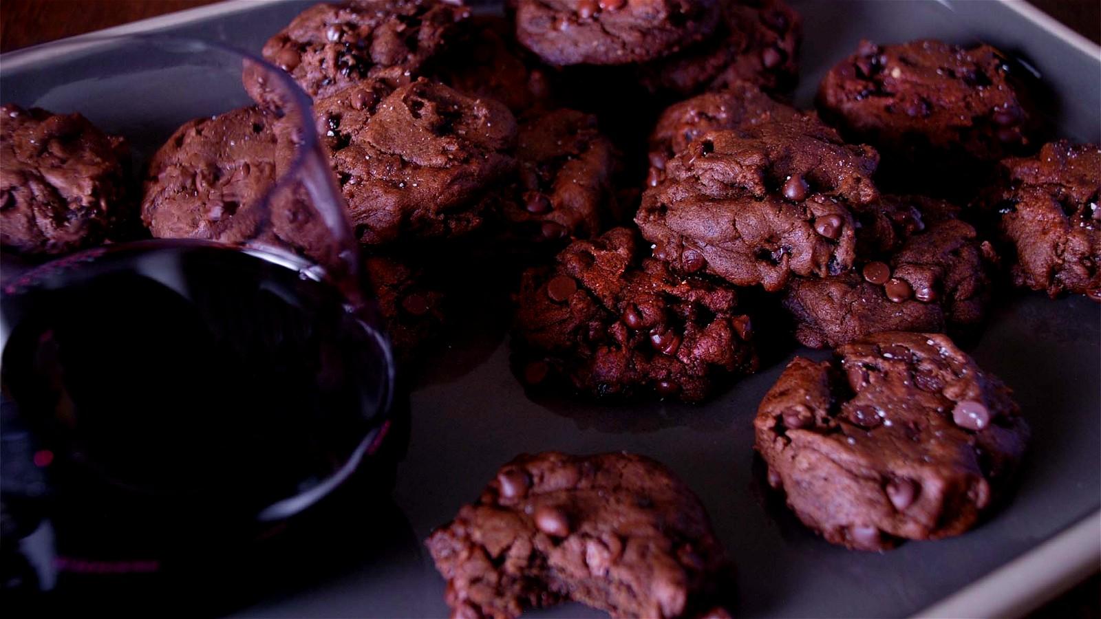 Image of Chocolate, Cherry, & Black Pepper Cookies