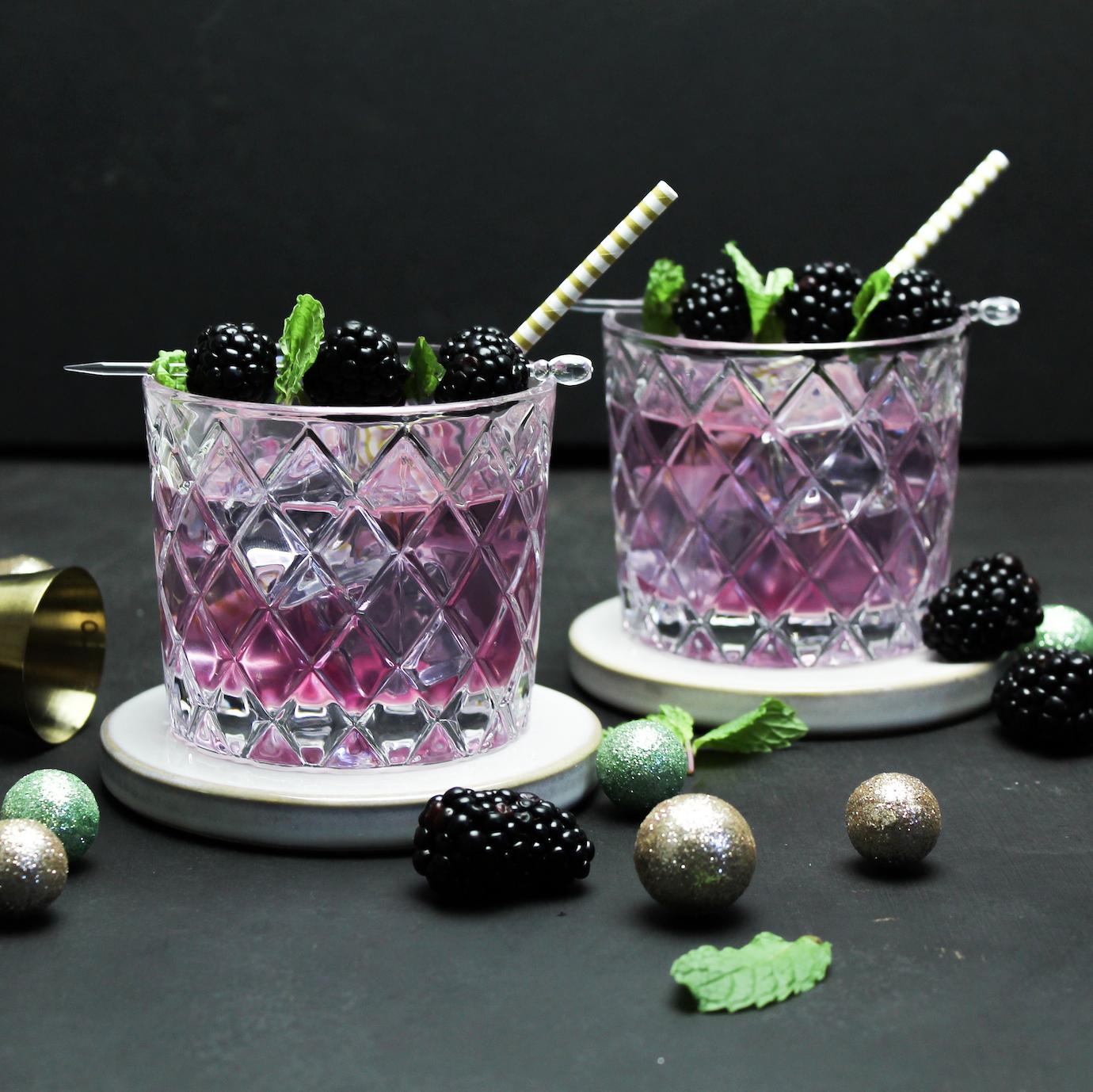Image of Blackberry Lavender Gin Cocktail